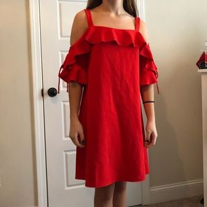 NWT Laundry dress with lace up sleeves